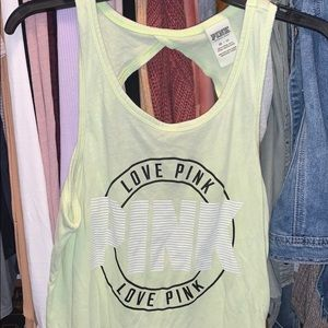 PINK Lime Green Tank Top